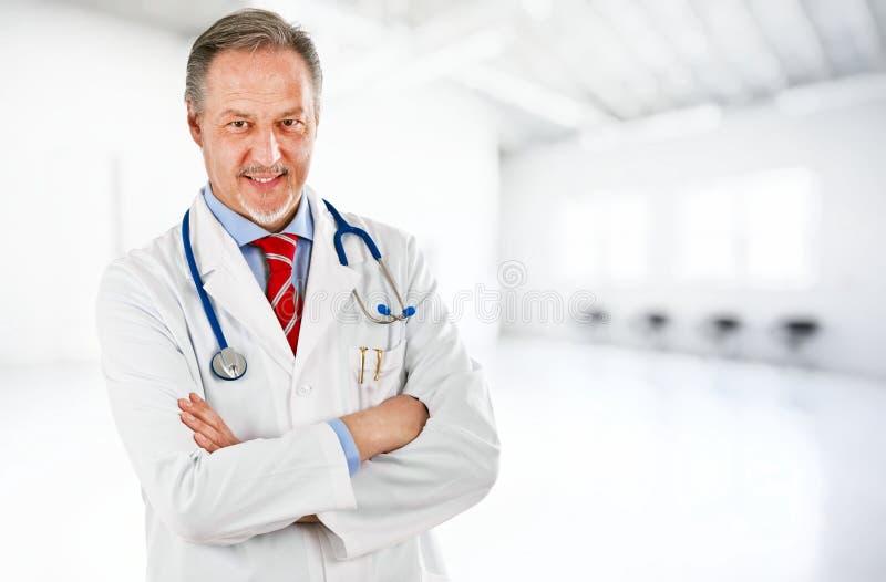 Mature doctor stock photo