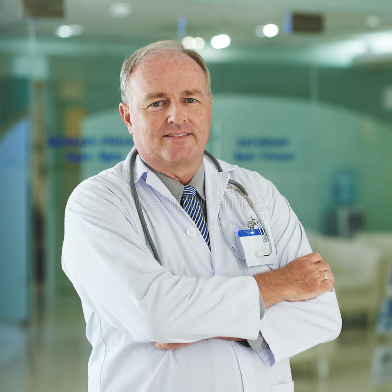 Mature doctor royalty free stock photo