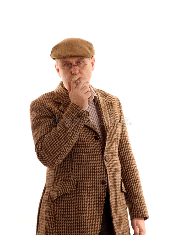 Download Mature English Countryman Smoking Stock Image - Image of white, tweed: 11656735