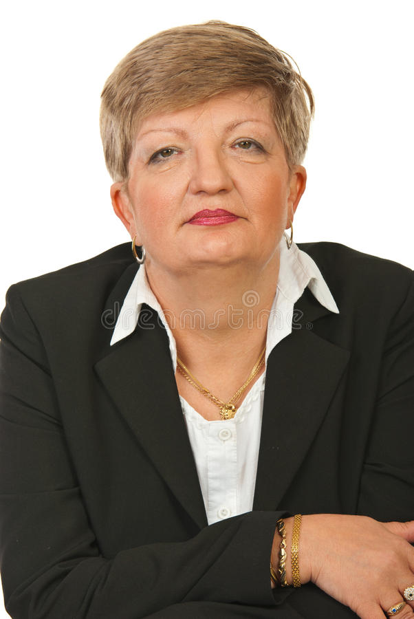 Mature executive woman stock images