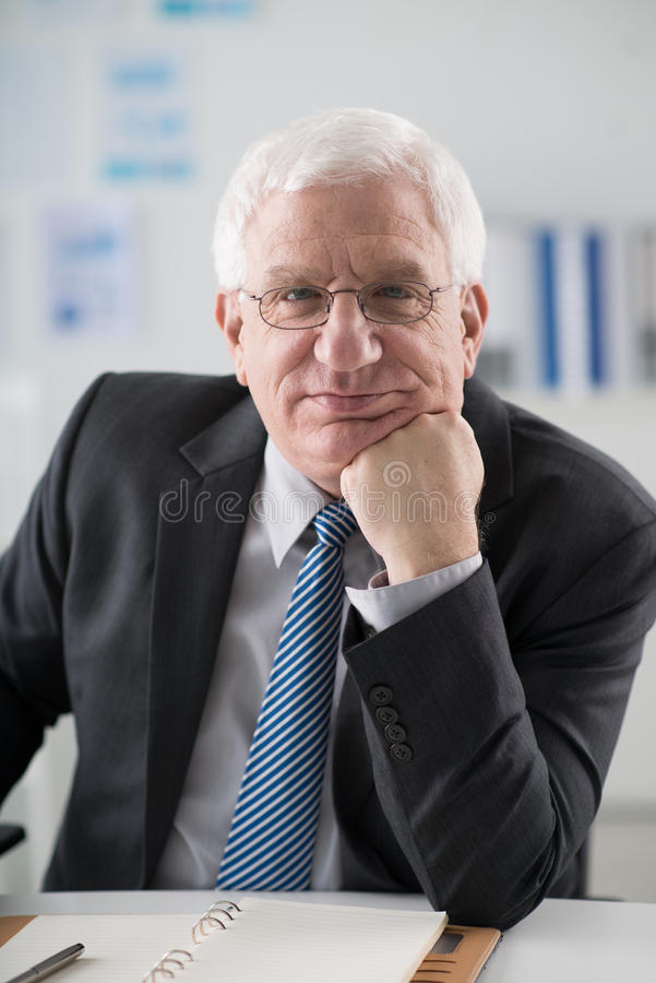 Mature experienced businessman royalty free stock photography