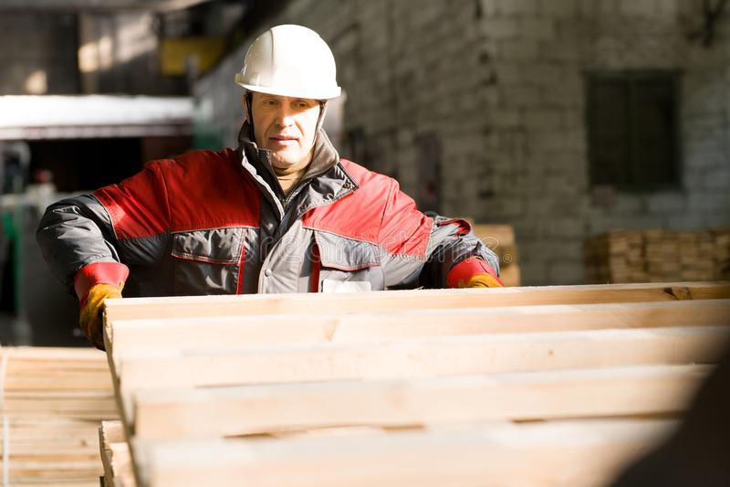 Mature Factory Worker at Plant royalty free stock images