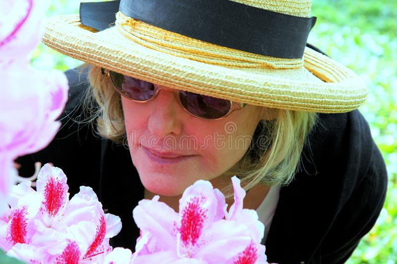 Mature female beauty expressions. royalty free stock photos