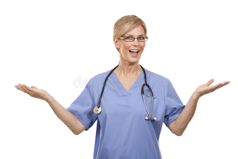 Mature female doctor royalty free stock images