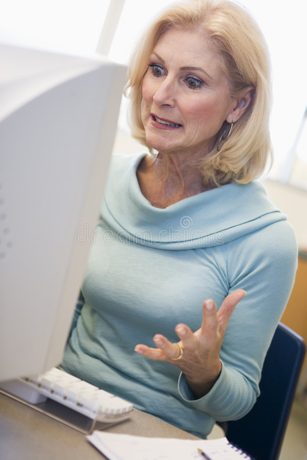 Download Mature Female Student Expressing Frustration Stock Photo - Image: 5948086