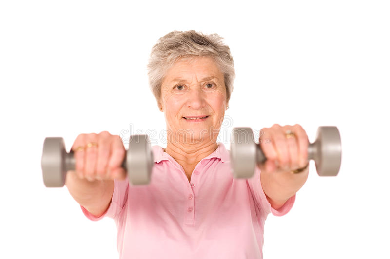 Download Mature Lady Lifting Weights Stock Images - Image: 12033684