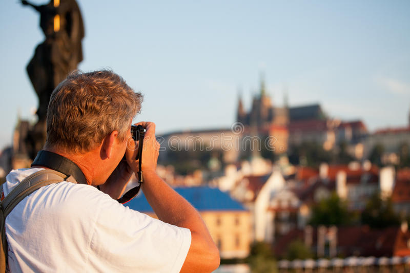 Mature male photographer royalty free stock image
