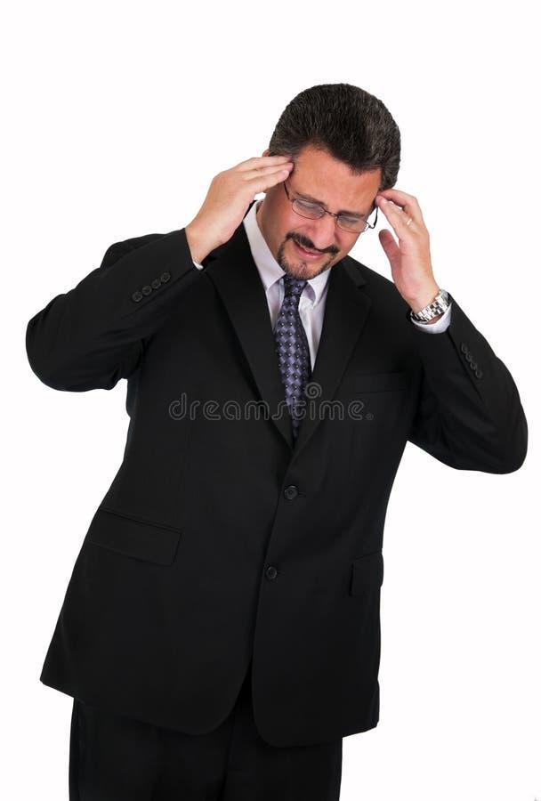Mature Man With Bad Headache Stock Photos