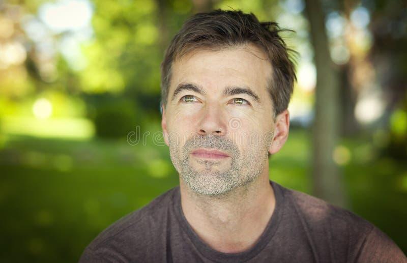 Mature Man Outside stock photography