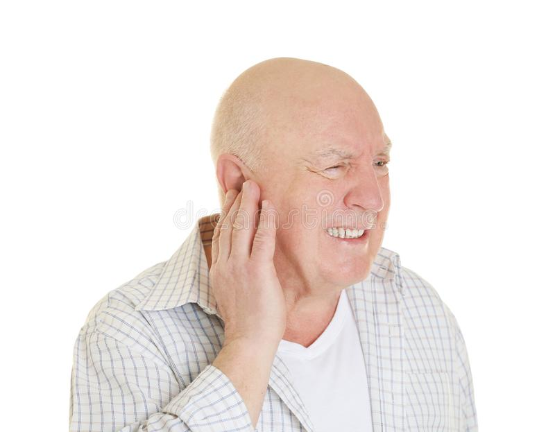 Mature man suffering from pain royalty free stock photo