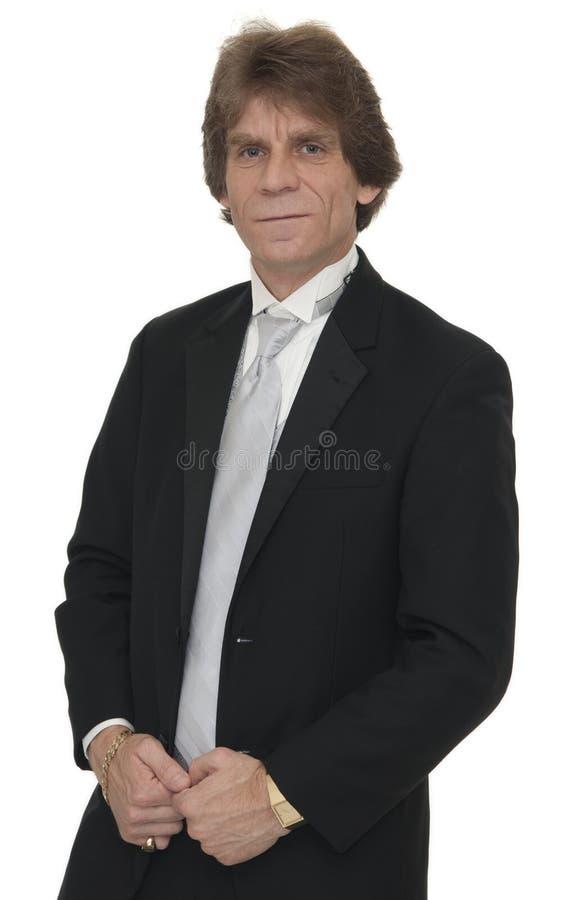 Mature Man In Tuxedo Stock Photo