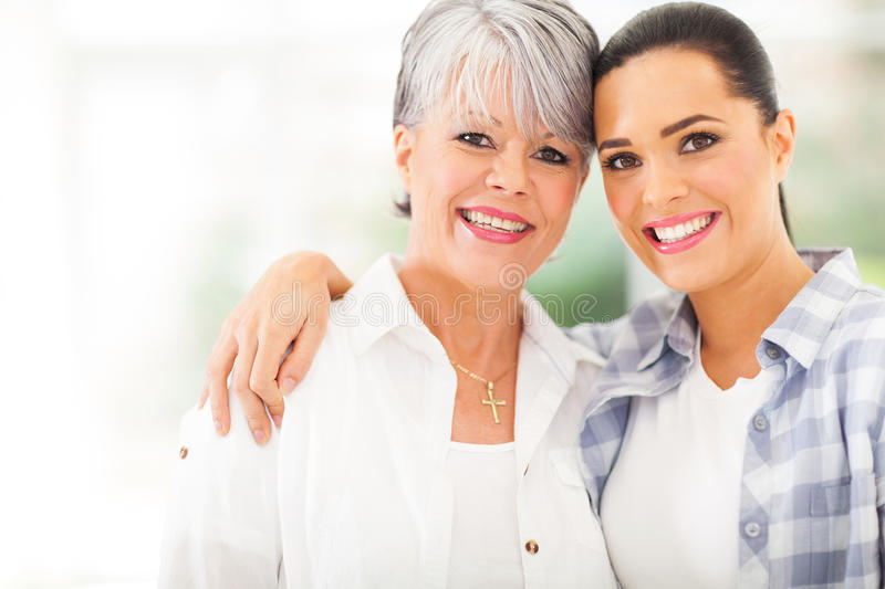 Download Mature mother daughter stock photo. Image of home, daughter - 33856710