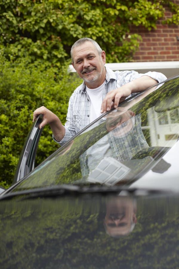 Download Mature Motorist Standing Next To Car Stock Image - Image: 28785067