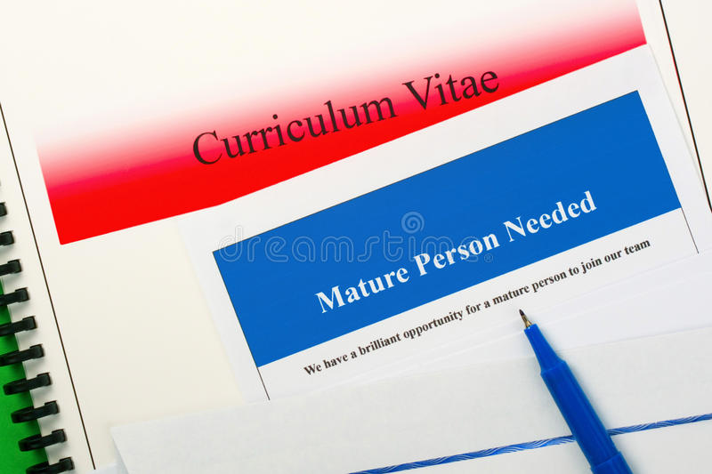 Download Mature Person Needed stock image. Image of advert, recruitment - 28014117