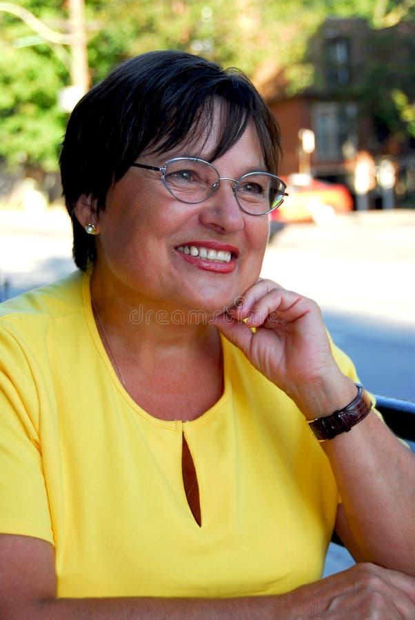 mature portait woman στοκ εικόνες με δικαίωμα ελεύθερης χρήσης