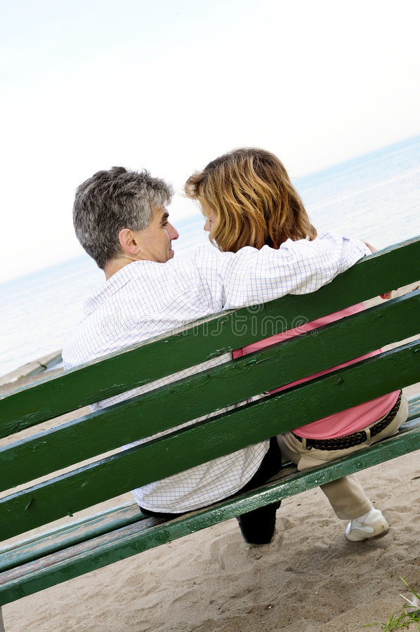 Download Mature Romantic Couple On A Bench Stock Image - Image: 5649149