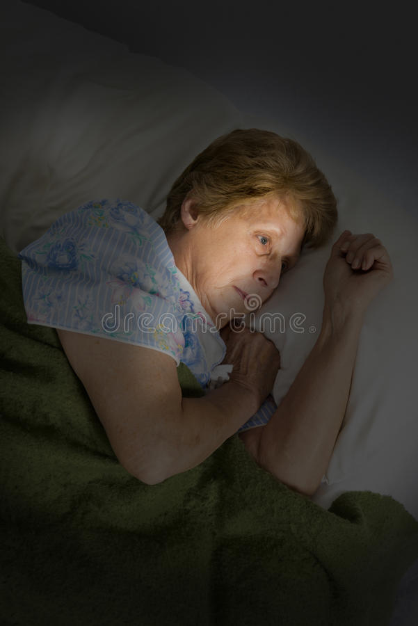 Mature Senior Woman Sad Lonely Dementia Alzheimers royalty free stock image