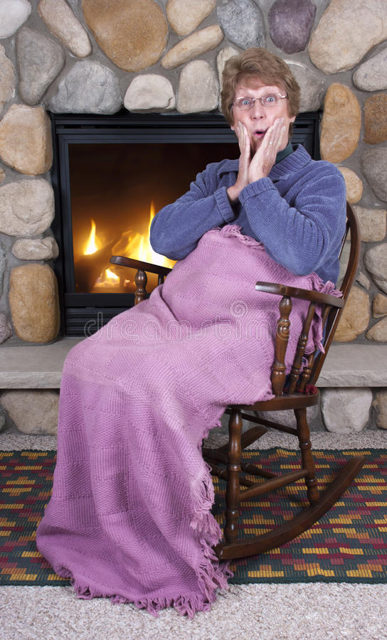 Download Mature Senior Woman Rocking Chair Fireplace Gossip Stock Image - Image of shock, rests: 17610659