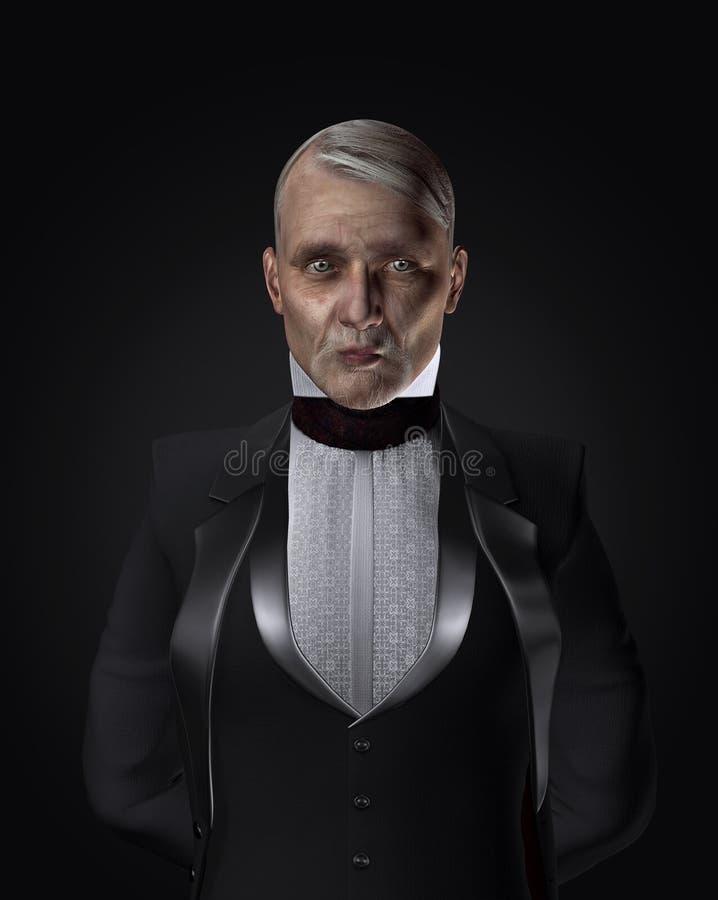 Download Mature servant or butler stock illustration. Image of hair - 25526892