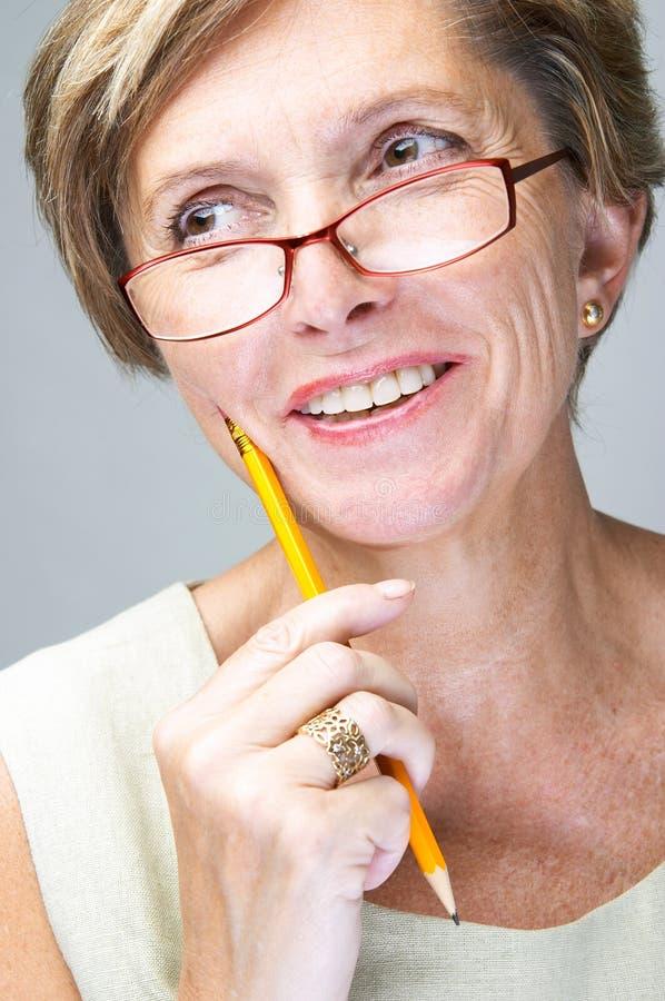 mature smiling woman στοκ φωτογραφία με δικαίωμα ελεύθερης χρήσης