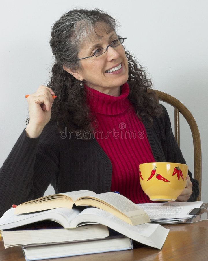 Download Mature Student Taking A Break Royalty Free Stock Photography - Image: 521567