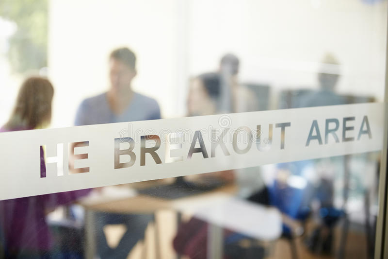 Mature Students Working In College Breakout Area stock photos