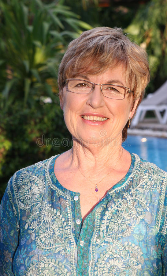 Mature woman stock images