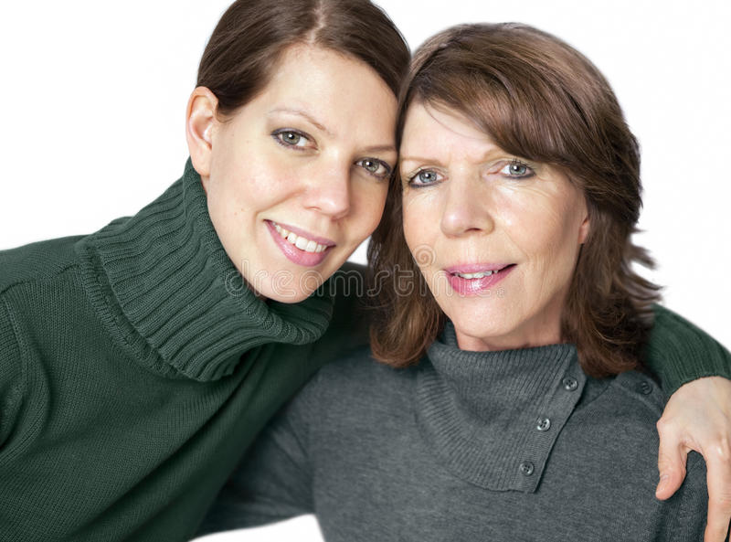 Mature woman and adult daughter royalty free stock photography