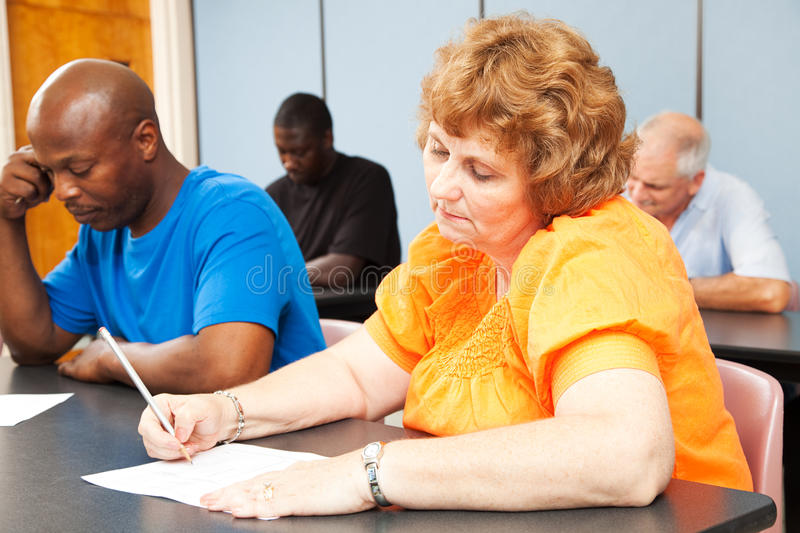 Mature Woman - Adult Education stock photography