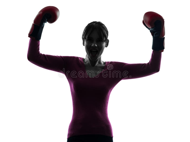 Download Mature Woman With Boxing Gloves Silhouette Stock Photo - Image: 30951740