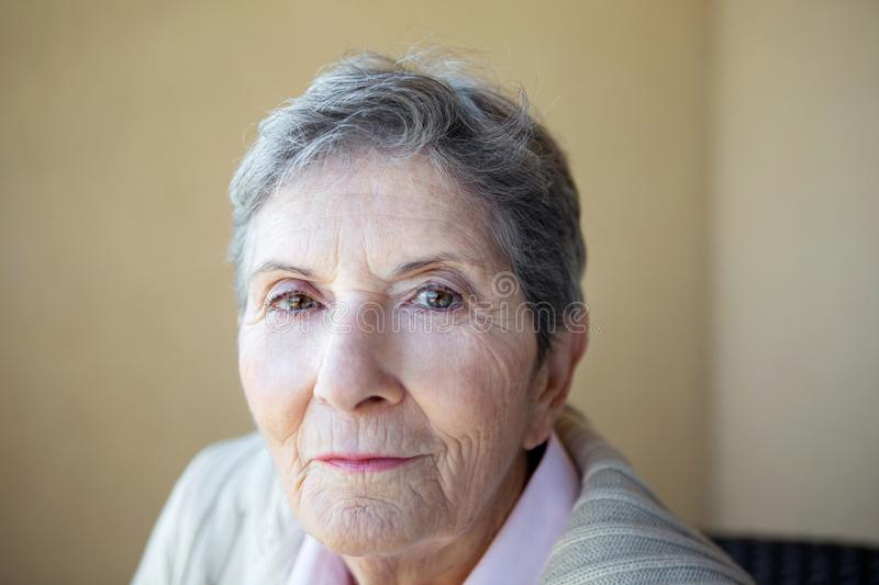 Mature Woman Feeling Lonely And Depressed. Stock Photo ...