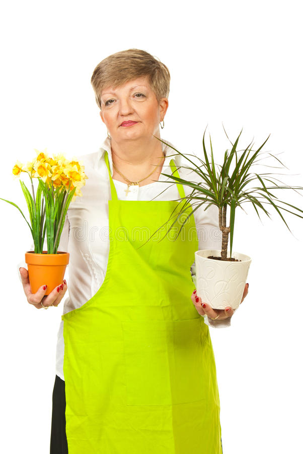 Mature Woman Florist Royalty Free Stock Photo