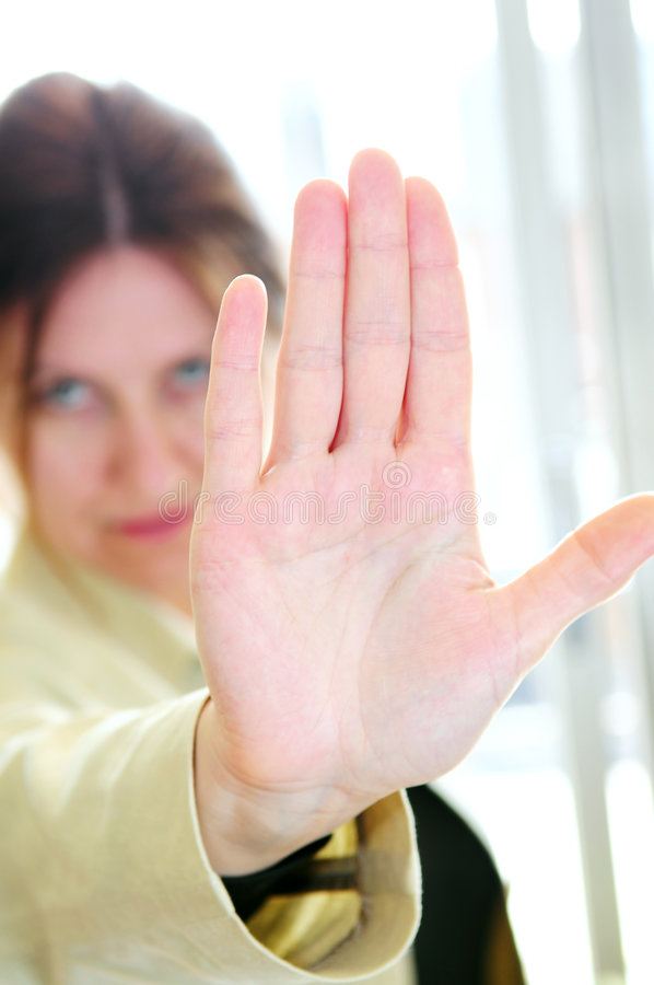 Download Mature Woman Gesturing Stop Stock Photo - Image: 4981028