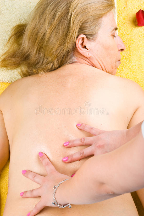 Download Mature Woman Getting Back Massage Stock Image - Image: 14509731