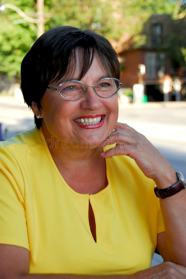 Mature woman portait royalty free stock image