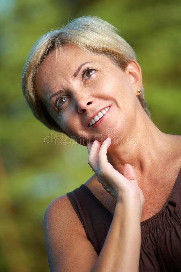 Mature woman portrait royalty free stock images