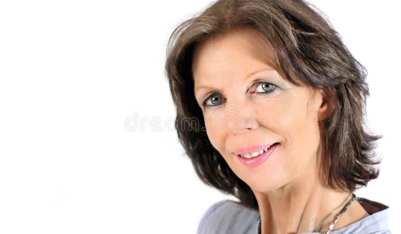 Mature woman portrait royalty free stock photos