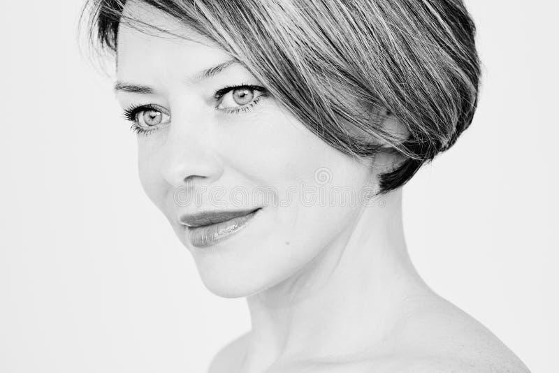 Mature woman portrait stock photography