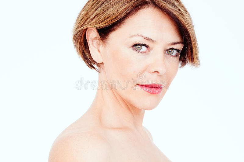 Mature Woman Portrait Stock Photo - Image 63788327-3849