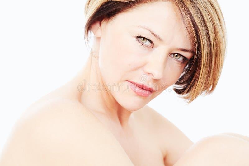 Mature woman portrait royalty free stock photo