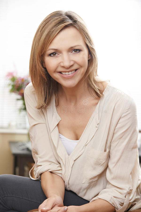 Download Mature woman portrait stock photo. Image of camera, eyes - 32382718