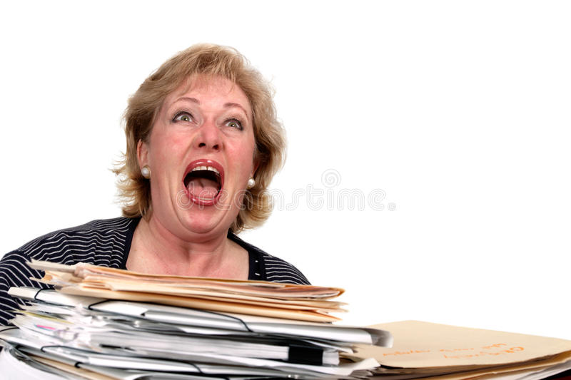 Download Mature woman screaming stock photo. Image of caucasian - 21485592
