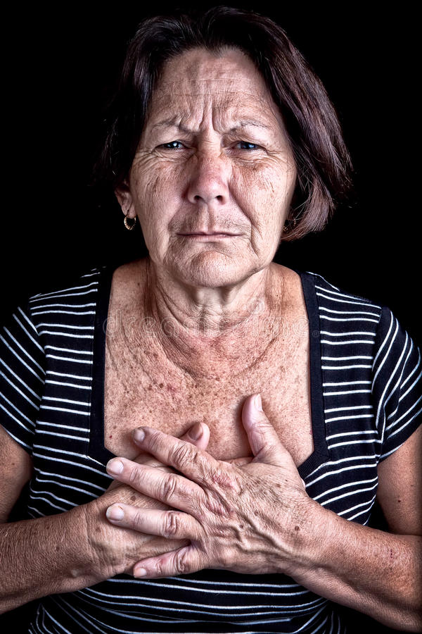 Download Mature Woman Suffering From Chest Pain Stock Image - Image: 23741421