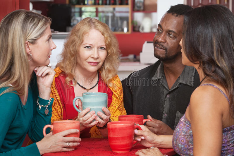 Download Mature Woman With Sympathetic Friends Stock Photo - Image: 28339658