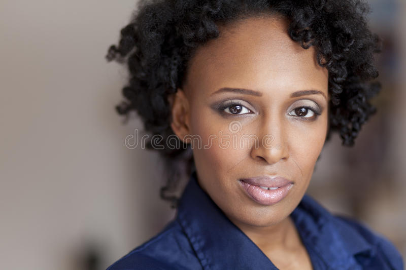 Mature Worried Haitian Woman. Looking At The Camera royalty free stock images