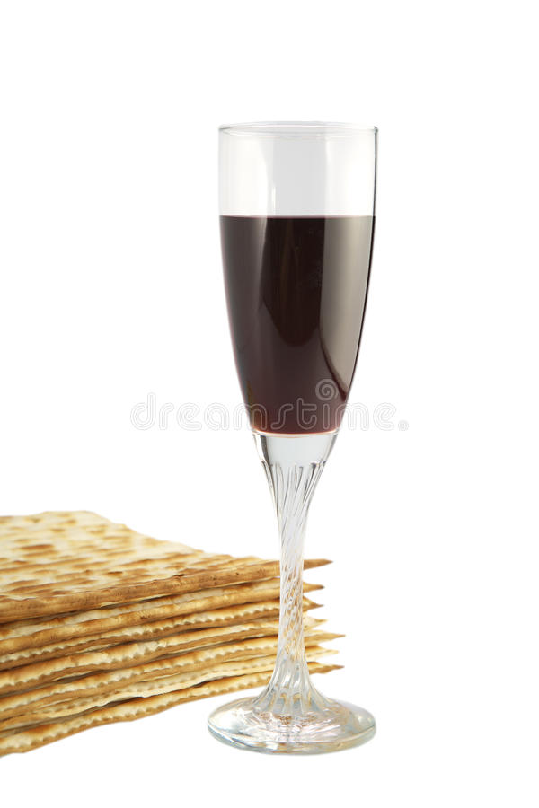 Free Matza And Red Wine Stock Photography - 13684732