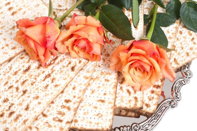 Matza para a celebração do passover imagem de stock royalty free