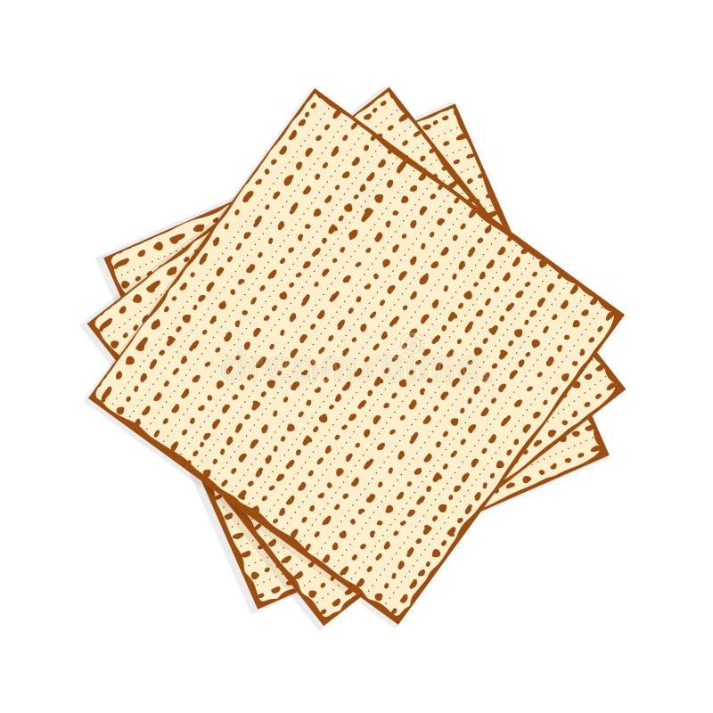 Matzah еврейской пасхи, пресный хлеб иллюстрация штока