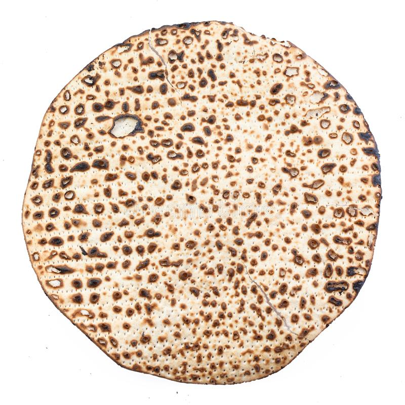 Matzah. Jewish traditional Passover bread. Pesach celebration symbol stock photography
