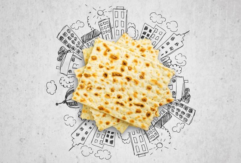 Matzahs Joodse geïsoleerde passover matzah stock afbeeldingen